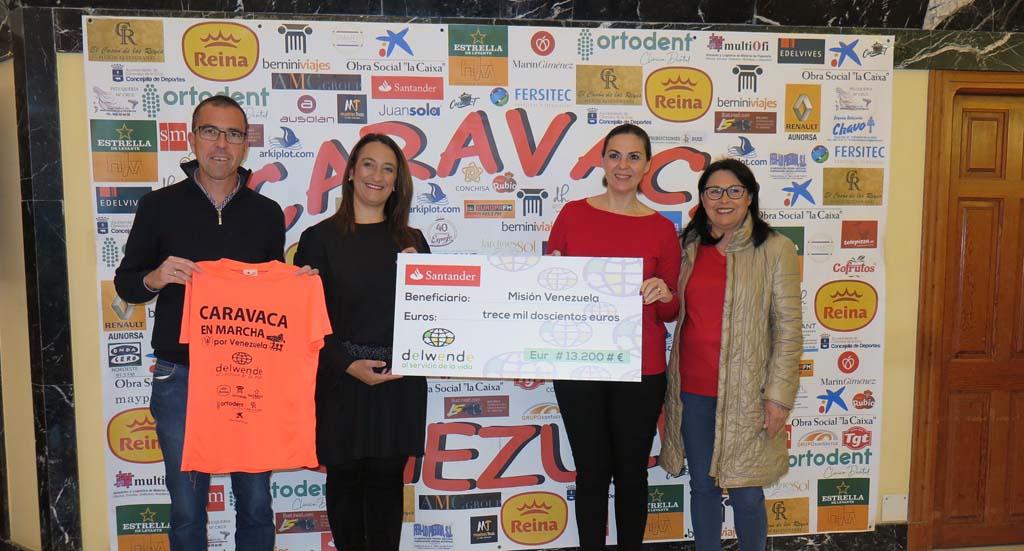 'Caravaca en marcha por Venezuela' recauda 13.500 euros para la ONG 'Delwende'