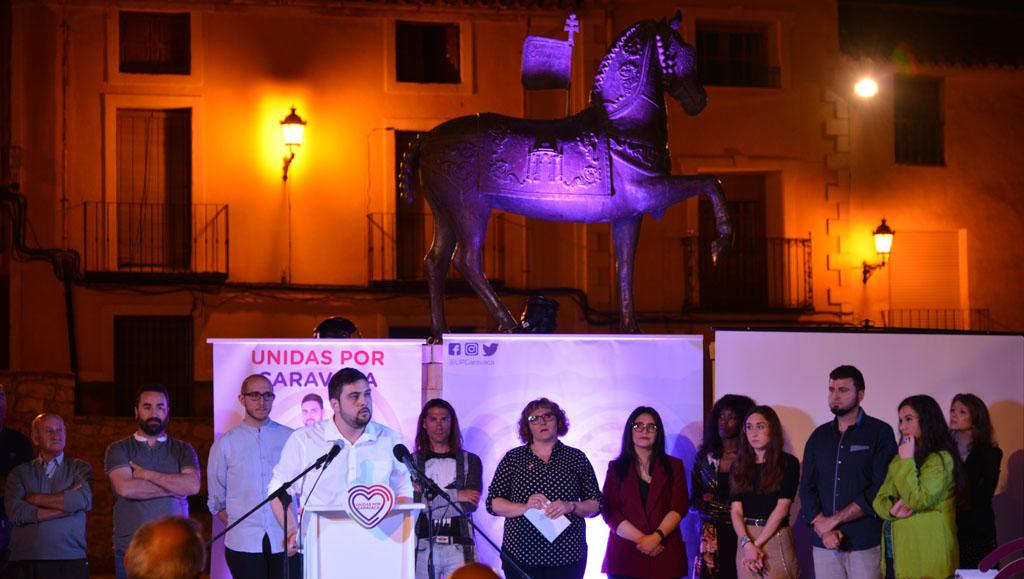 Unidas Caravaca presenta su candidatura en un acto en la Plaza del Hoyo