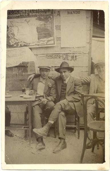 Pepe Barrancos, en una cafetería