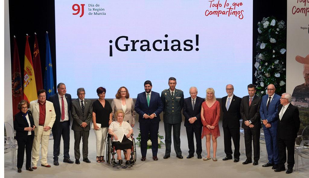 Alfonso López Rueda y Antonio López Bermejo obtienen el Diploma de Servicios Distinguidos de la Región de Murcia