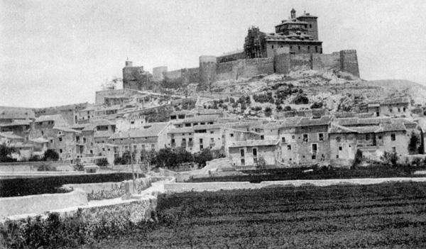 Antiguo camino de los callejones sobre el que se construyó la Gran Vía, año 1905