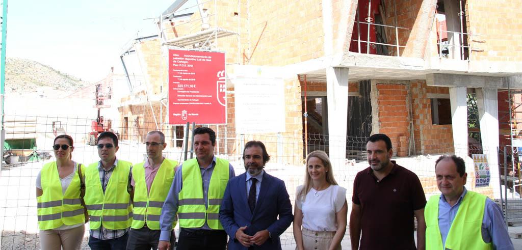 El Consejero de Presidencia Pedro Rivera visita las obras del Plan de Obras y Servicios de Cehegín
