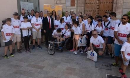 Participantes en el proyecto 'Esclerosis sin límites' del club Rotary peregrinaron a Caravaca de la Cruz