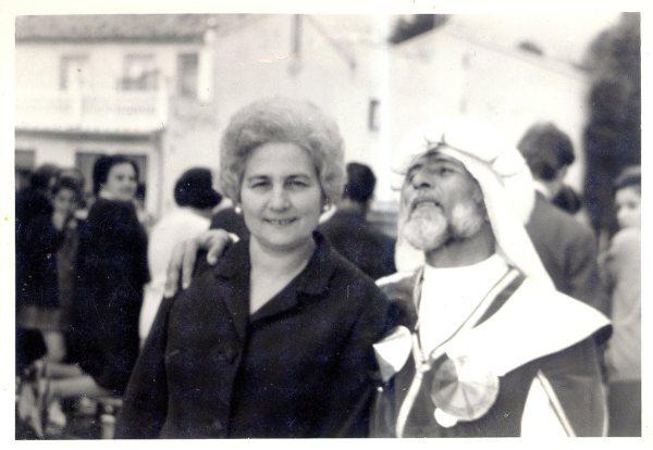 Con su mujer, Concepción Navarro