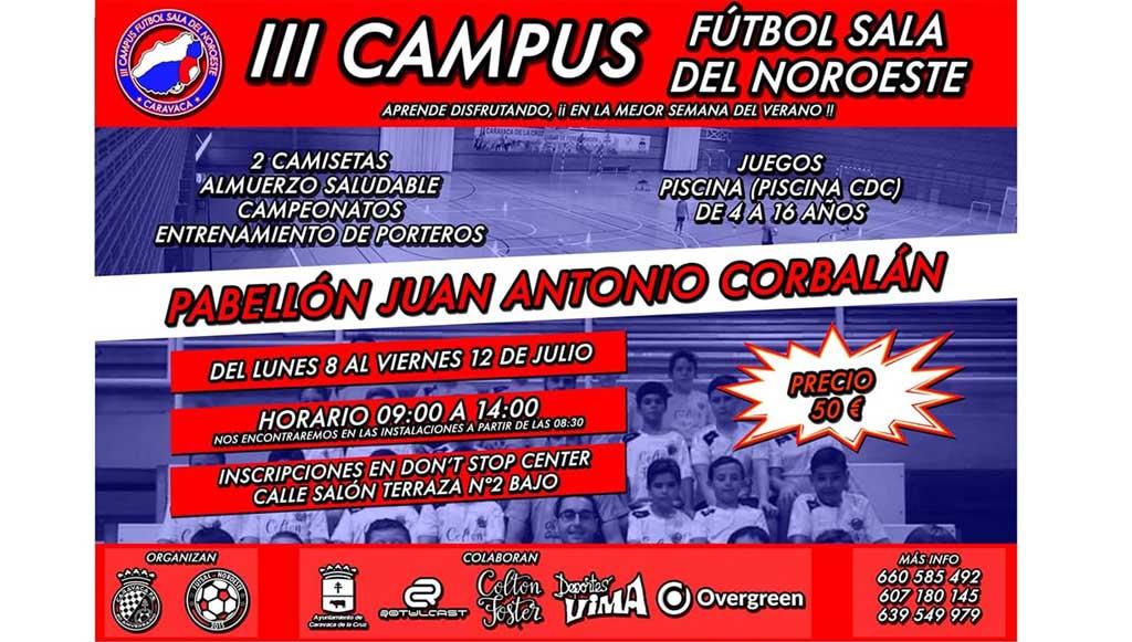 Caravaca acoge la tercera edición del 'Campus de Fútbol y Fútbol Sala del Noroeste' del 8 al 12 de julio