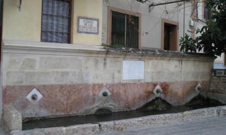 Fuentes públicas callejeras en Caravaca