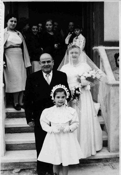 Pablo Celdrán. 1954. Boda de su hija Lola