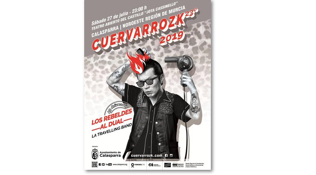 Los Rebeldes, Al Dual y La Traveling Band actúan en el Cuervarrozk 2019