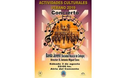 La Banda Juvenil de la Sociedad Musical de Cehegín ofrecerá, este próximo sábado, un concierto en el Atrio del Convento