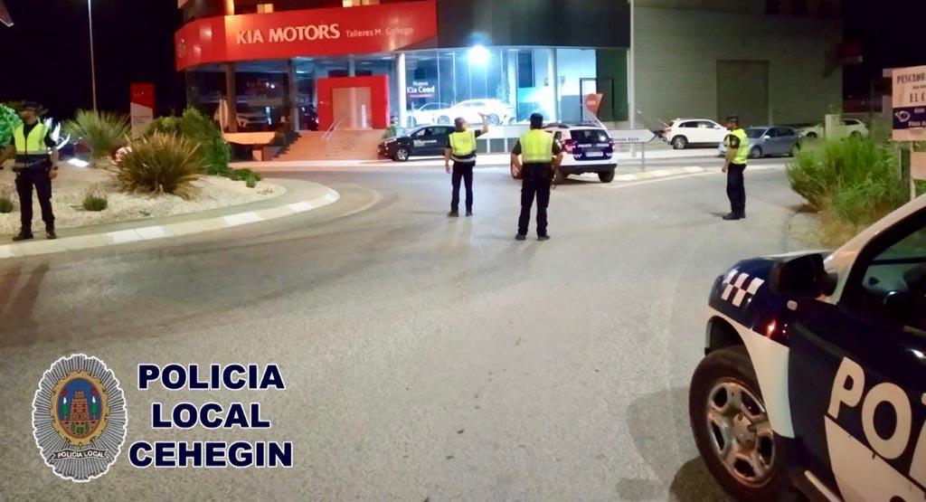 La Policía Local de Cehegín refuerza los controles de alcohol y drogas a conductores los fines de semana