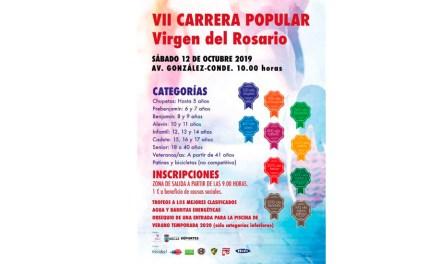 Este sábado se disputa la VII Carera Popular Virgen del Rosario