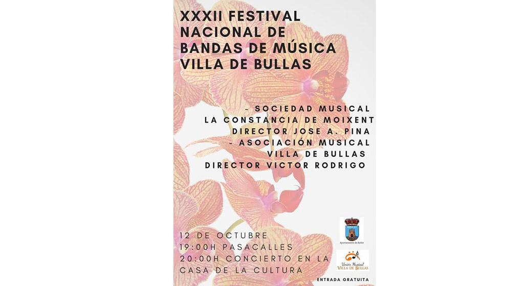 Se celebra el XXXII Festival Nacional de Bandas de Música Villa de Bullas