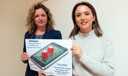 El Ayuntamiento de Caravaca, en colaboración con los centros educativos, inicia los talleres de prevención a la adicción al juego en adolescentes