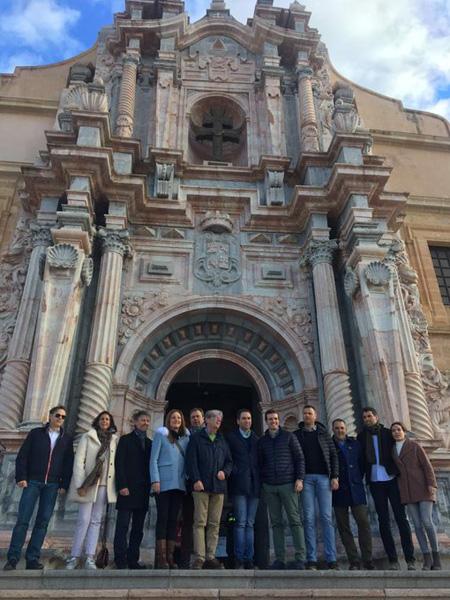 Acompañando a Pablo Casado en su visita a Caravaca