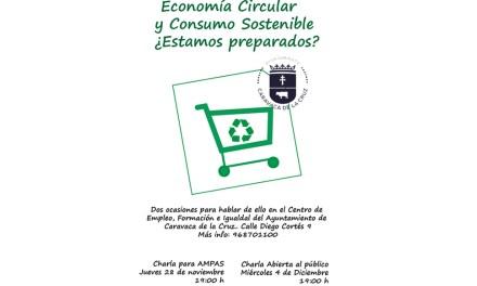 Las Concejalías de Medio Ambiente y Comercio del Ayuntamiento de Caravaca programan charlas sobre la economía circular y el consumo sostenible