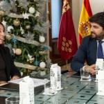 """López Miras muestra a María Dolores Muñoz su voluntad de desarrollar """"mecanismos en materia de financiación local"""""""
