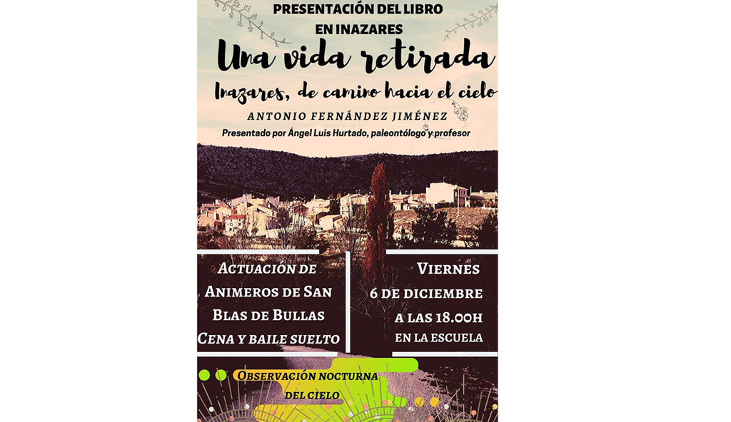 Antonio Fernández Jiménez presenta su novela en el pueblo que la protagoniza, Inazares