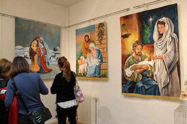 Algunos de los cuadros de la exposición