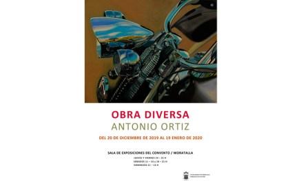 """Este viernes se inaugura la muestra """"Obra diversa"""" del creador murciano Antonio Ortiz"""