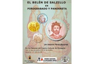 """El Casino Cultural acoge la exposición """"El Belén de Salzillo en pirograbado y pandereta"""""""