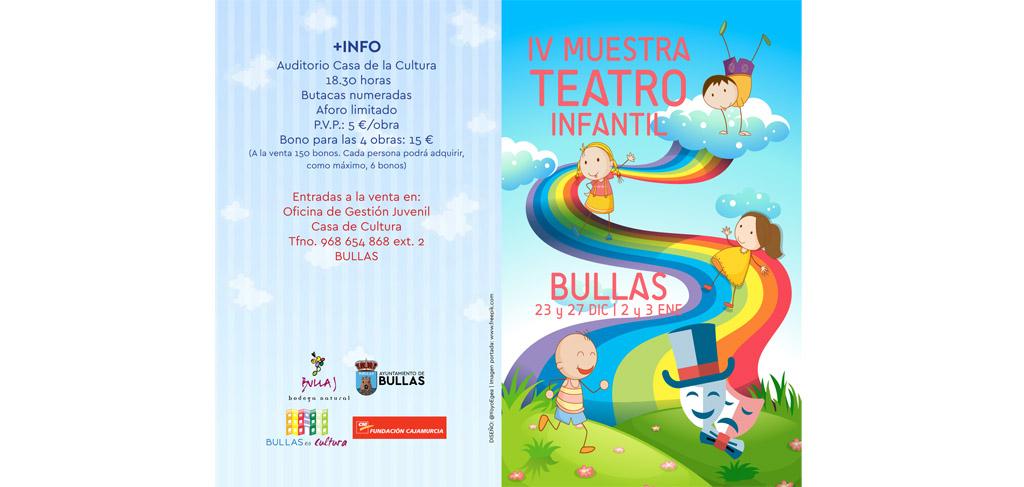 Cuatro obras de teatro forman parte de la programación teatral navideña de Bullas