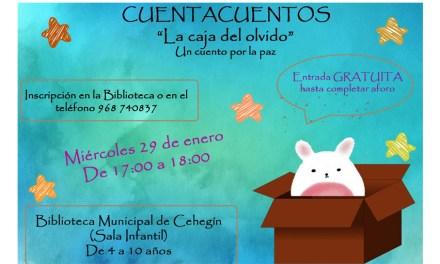 La Biblioteca de Cehegín acoge el cuentacuentos 'La Caja del Olvido' el próximo miércoles