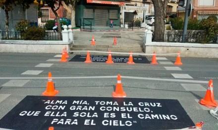 Concluyen los trabajos de señalización horizontal en las travesías del casco urbano de Caravaca y las labores continúan en pedanías