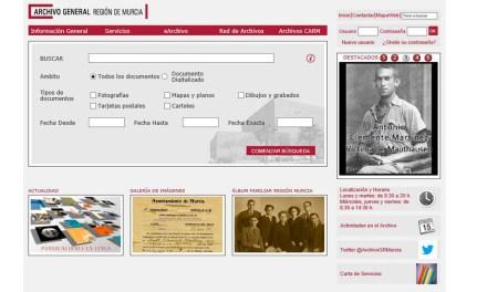 La web del Archivo General de la Región permite acceder a 274.000 documentos y a casi un millón de imágenes