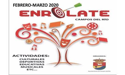 Cultura, ocio y tiempo libre en Campos del Río con el 'Enrólate' de febrero y marzo