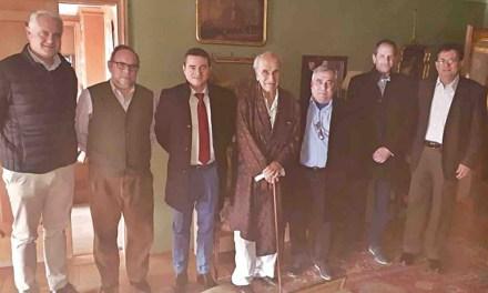 Primer encuentro oficial con el Marqués de Albudeyte
