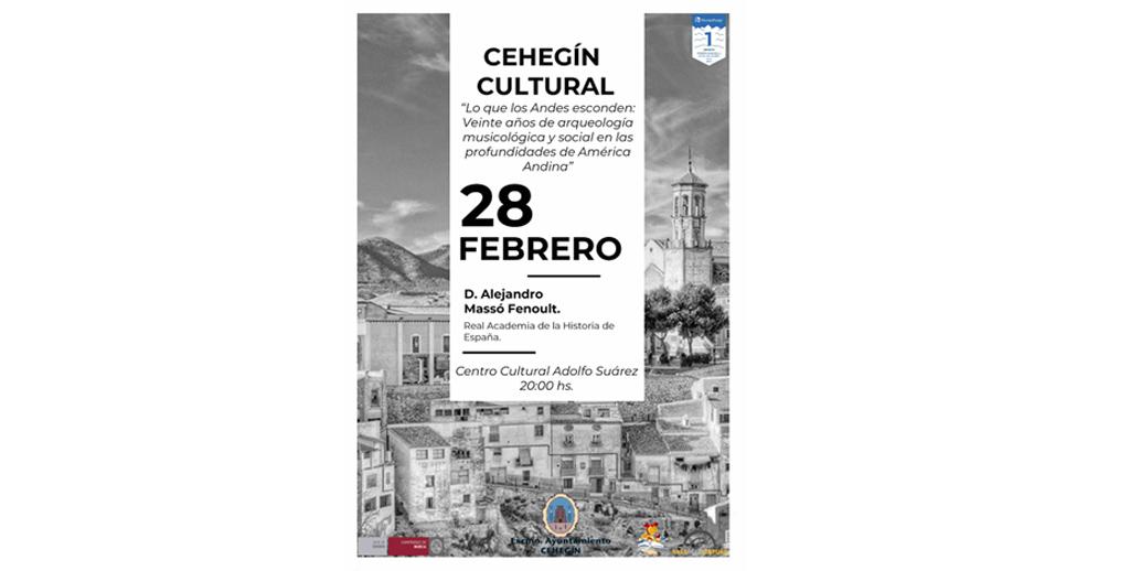 """El profesor, musicólogo y miembro de la Real Academia de la Historia, Alejandro Massó, cierra este viernes el """"Cehegín Cultural"""""""