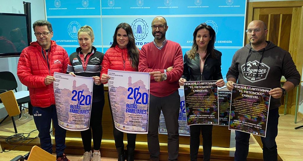 El Ayuntamiento de Cehegín presenta un calendario de rutas para toda la familia