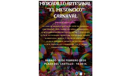 Llega el Mercadillo Artesanal 'El Mesoncico' con una nueva edición dedicada al carnaval