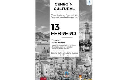 """El profesor de Estética de la Escuela de Arquitectura de Barcelona, Pedro Azara, impartirá la tercera conferencia del """"Cehegín Cultural"""""""