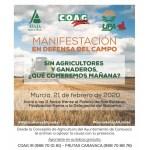 El Ayuntamiento de Caravaca apoya la manifestación en defensa del Campo convocada con el lema 'Sin agricultores y ganaderos, ¿Qué comemos mañana?'