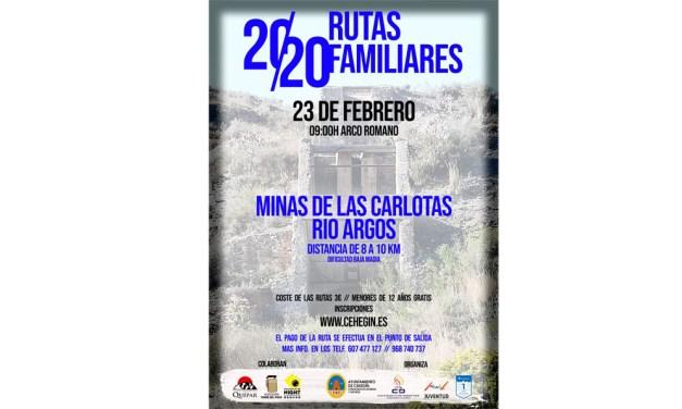 Las Minas de las Carlotas y Río Argos acogerán la primera ruta de turismo familiar de naturaleza