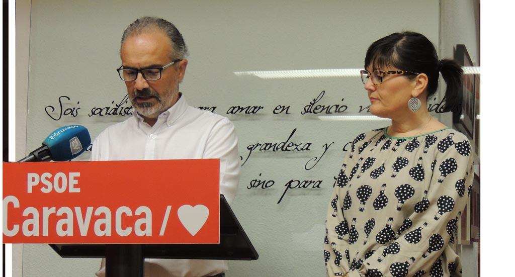 El PSOE asegura que el Equipo de gobierno de Caravaca pone en práctica sus propuestas pero con retraso