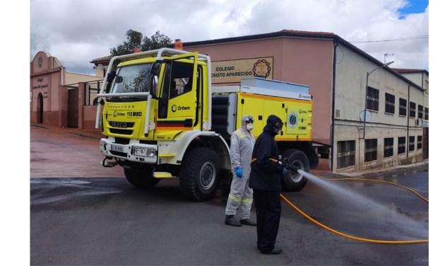 El Ayuntamiento de Moratalla agradece a las brigadas forestales, al personal de servicios, a Protección Civil y a los voluntarios que trabajaron en la desinfección de choque en la localidad