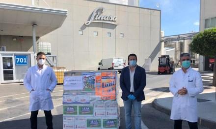 LINASA dona una importante cantidad de productos de limpieza e higiene al Ayuntamiento de Mil