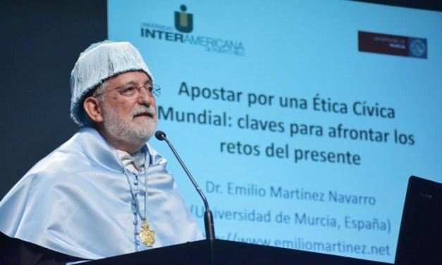 Emilio Martínez, catedrático de Filosofía Moral y Política: «Lo del virus va a ser una broma comparado con los efectos más drásticos del cambio climático»