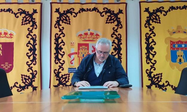 Jesús Amo, alcalde de Moratalla: «La parte presupuestaria de festejos de este año 2020 la derivaremos a políticas sociales»