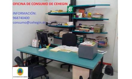 El Ayuntamiento de Cehegín sigue ofreciendo sus servicios en materia de consumo