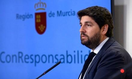 """López Miras: """"La Región de Murcia volverá a ser la que menos reciba por habitante con el nuevo criterio de reparto de fondos del Gobierno central"""""""