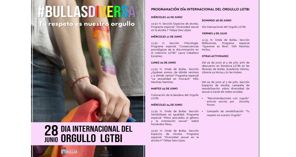 Conmemoración en Bullas del Día Internacional del Orgullo LGTBI