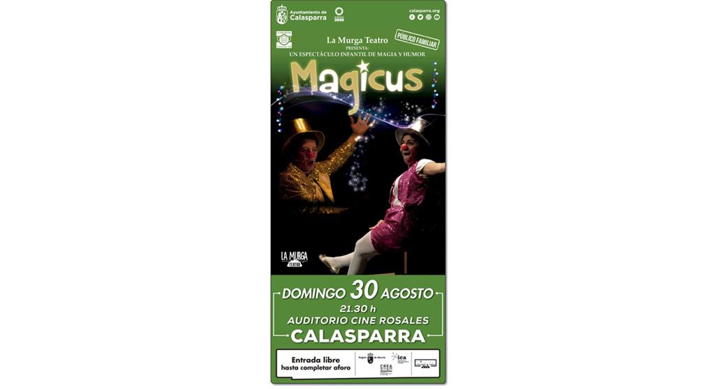 Llega a Calasparra «MAGICUS», el espectáculo de magia y humor