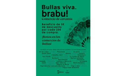 La campaña en favor del comercio local continúa en Bullas con descuentos de cinco euros en compras de 25€ hasta este sábado
