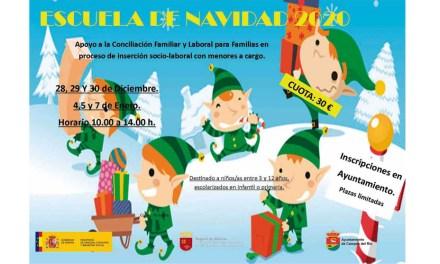 Abierto el plazo para realizar las inscripciones de la Escuela de Navidad Campos del Río 2020