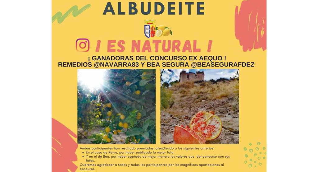 Reme Peñalver y Beatriz Segura ganan el concurso 'Albudeite ¡Es Natural!'