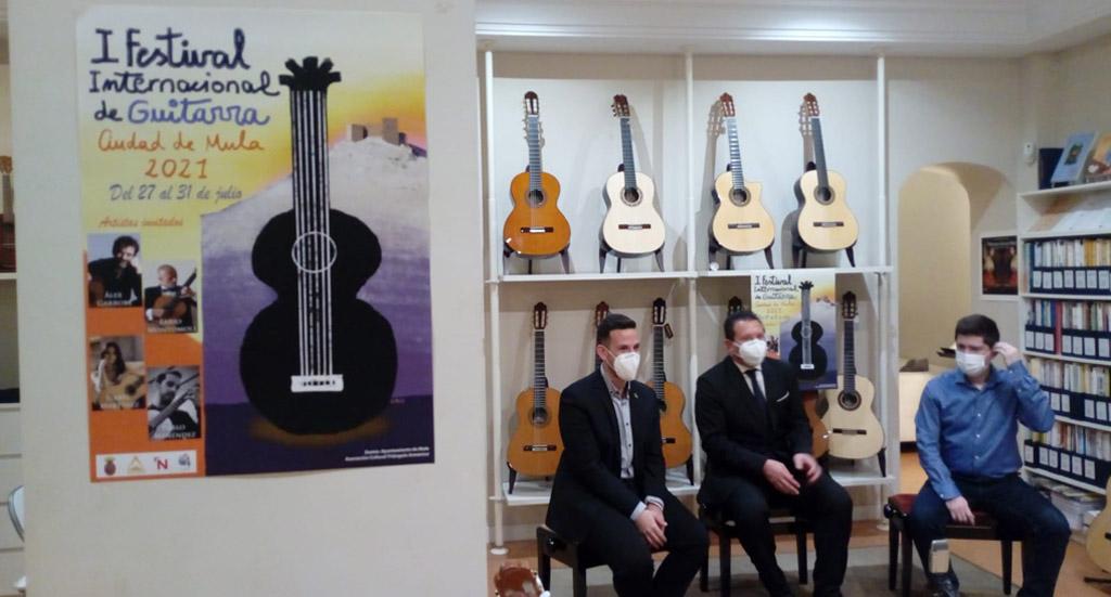 Presentado en Madrid el I Festival y Concurso de Guitarra Ciudad de Mula del 27 al 31 de julio