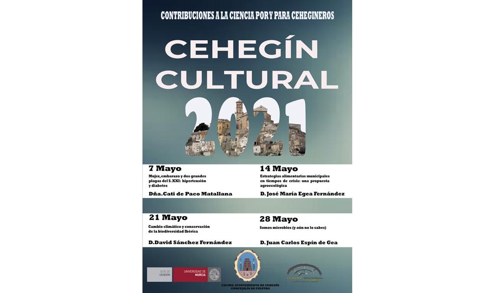 """Comienza este viernes 7 el ciclo de conferencias """"Cehegín Cultural"""", este año dedicado a la ciencia"""